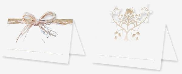 Bordkort, Bryllup