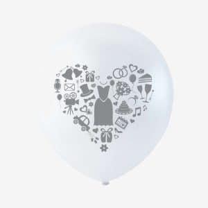 Bryllups Balloner /6 stk