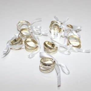 Bryllups ringe til dekoration - pose med 10 stk.