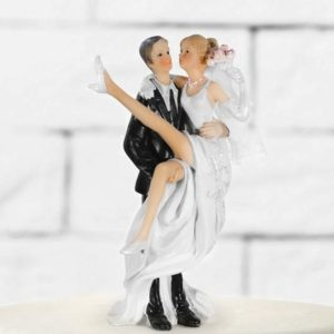 Cake Topper Bride on hands, 13cm