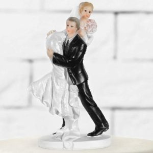 Cake Topper Carried bride, 15cm