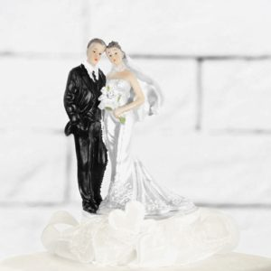 Cake Topper Newly-weds, cream, 15cm
