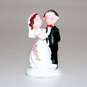 Dekofigur Brudepar 9 cm