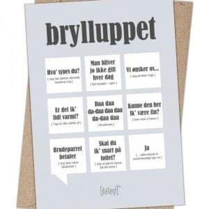 Dialægt kort - Bryllup - A6