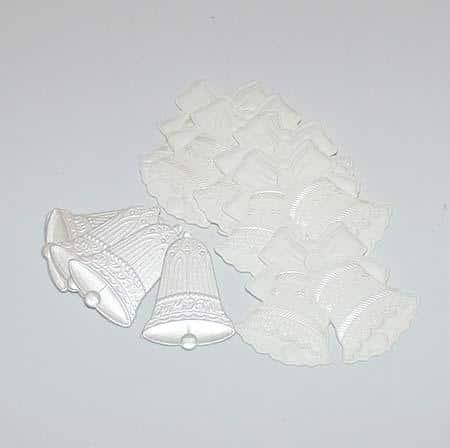 Emblem mini - Bryllupsklokker - Hvid - 12 stk