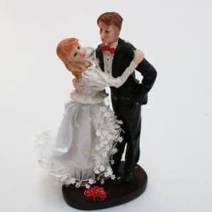 Kagefigur Bryllup - med hånden i lommen - 18 cm