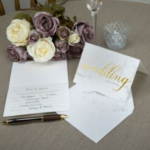 Marmor Bryllups Invitation