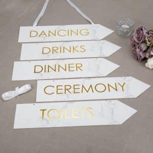 Marmor Bryllups Skilte
