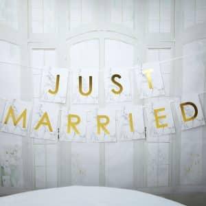 Marmor ''Just Married'' Bånd